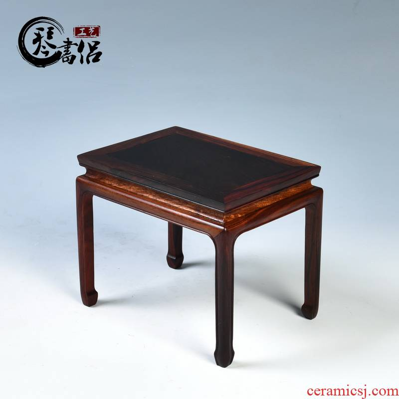 Pianology picking mahogany base solid wood rectangle flowers miniascape base square are it tea base
