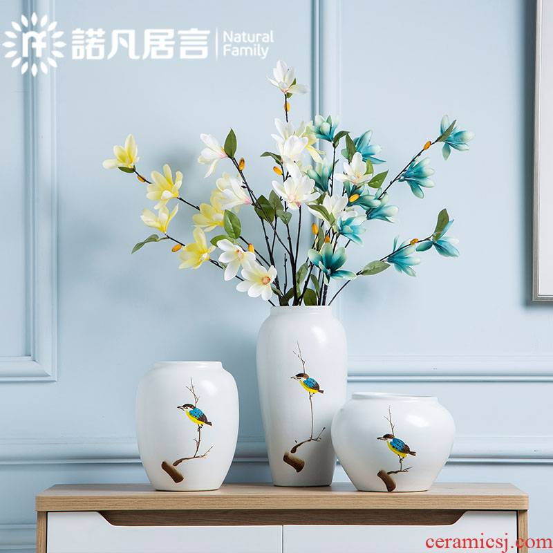The Mesa of jingdezhen ceramic vase hotel living room TV ark, place the dried flower arranging creative decoration decoration of Chinese style