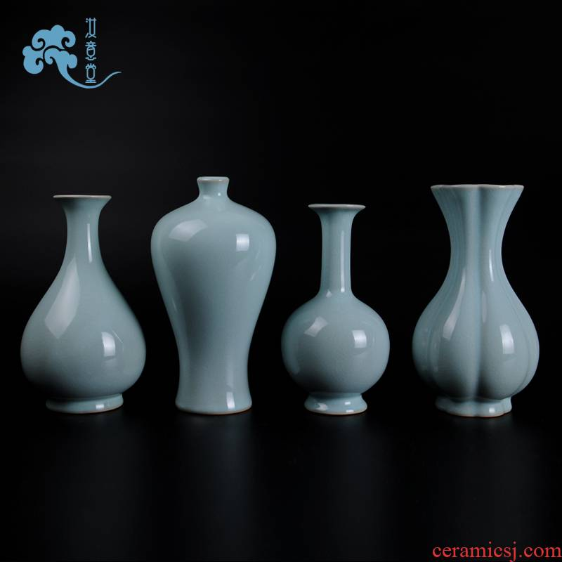 Your up Chinese arts and crafts contracted porcelain vases, pottery and porcelain flowers, flower arranging bottles sitting room place, home decoration