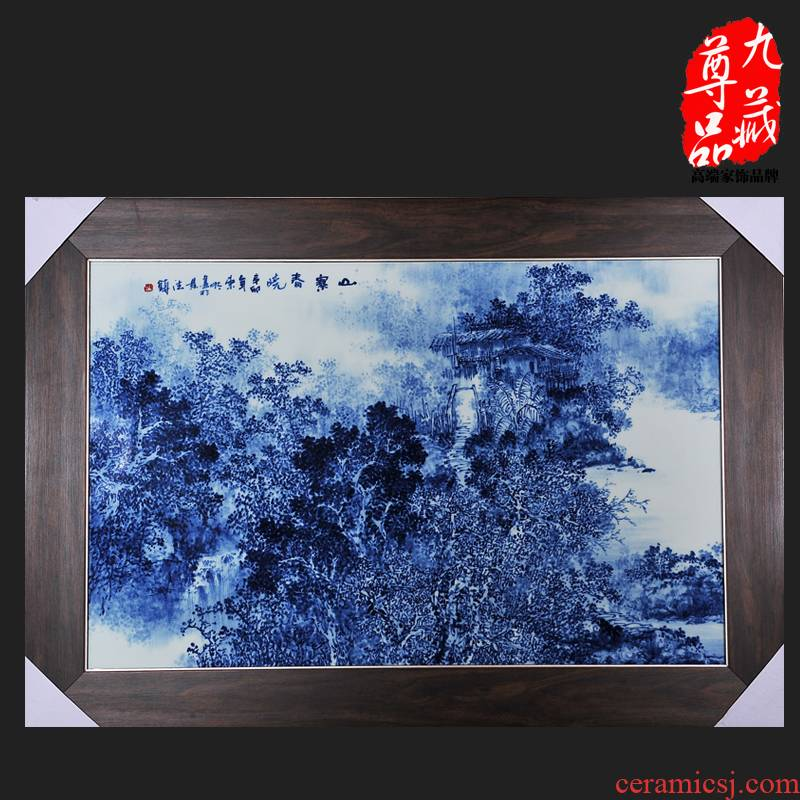 The Concept of jingdezhen ceramics dong - Ming li hand - made shanzhai chunxiao porcelain plate painting adornment household handicraft furnishing articles