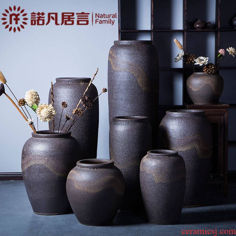 Ceramic vase Europe type restoring ancient ways the dried flower arrangement ins furnishing articles hotel club villa sitting room be born Nordic coarse pottery