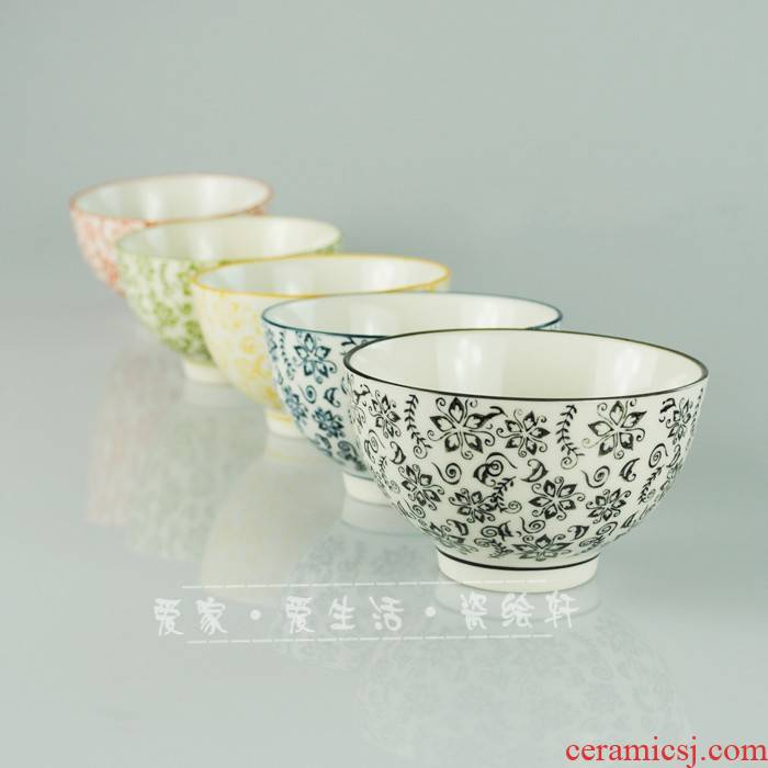 Move Korean colorful bowl bowl \ \ shells ceramic bowl/rice bowls
