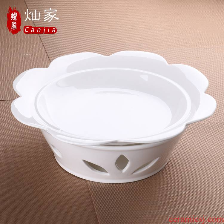 Can is home heating furnace of the heat preservation tableware Can diy ceramic based lotus expressions using furnace pan fish 0