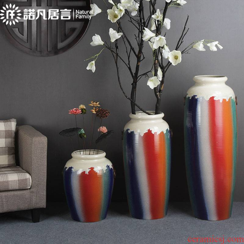 Large ceramic vase American ground flower arranging hotel restaurant covers I sitting room porch decorate household furnishing articles