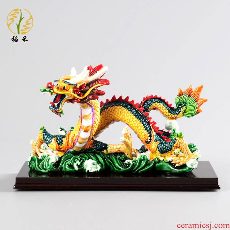 Creative in the spot dragon furnishing articles office desktop TV ark, home decoration decoration of Chinese style gifts