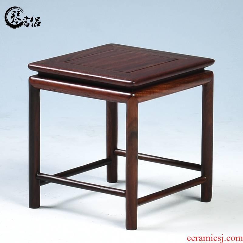 Miniature mahogany base solid rectangular planter base it teapot base several shelves bonsai base