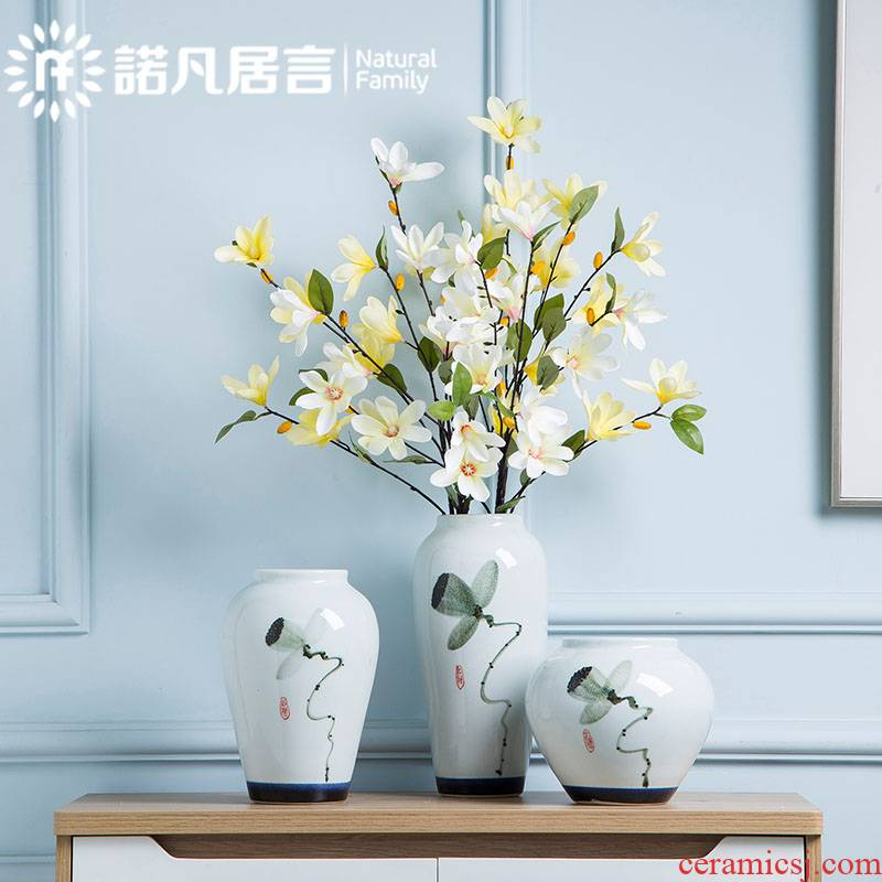 Mesa of jingdezhen ceramic vases, new Chinese style hotel furnishing articles dried flowers flower arrangement sitting room decoration decoration decoration