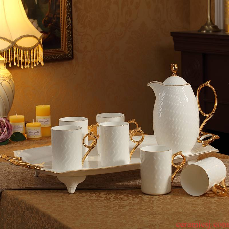 European household ceramic cup with a suit ipads porcelain tray afternoon tea cups cold water bottle suit
