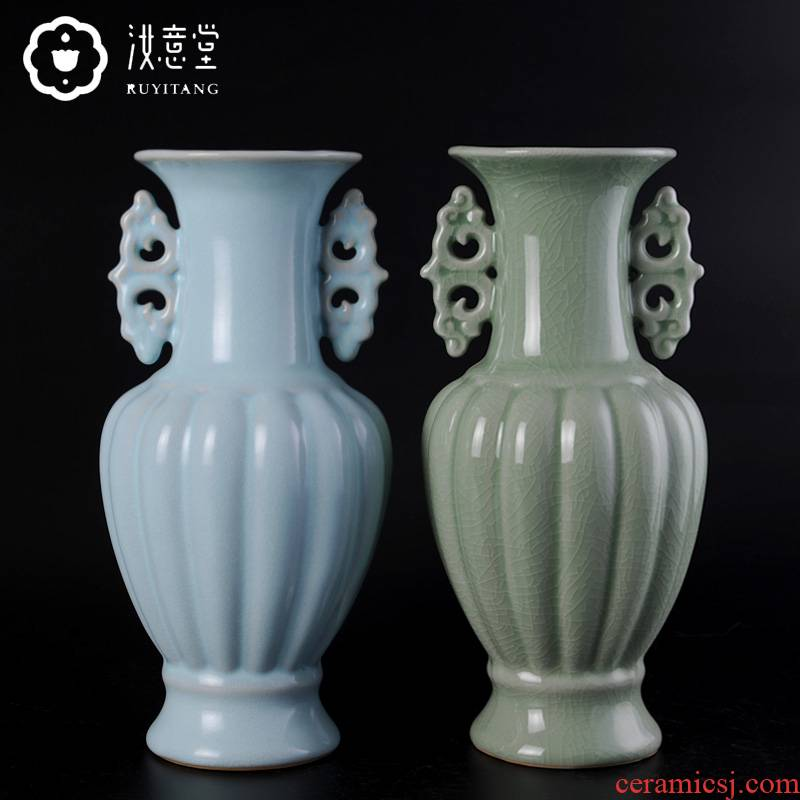 Archaize your up chinaware bottle Chinese style restoring ancient ways classical household mesa of sitting room adornment furnishing articles porcelain ceramic vase