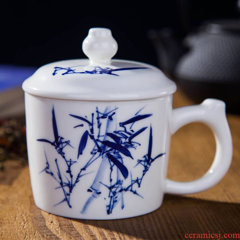 New ceramic DE farce peace auspicious jewelry of the tea cup with cover glass office meeting