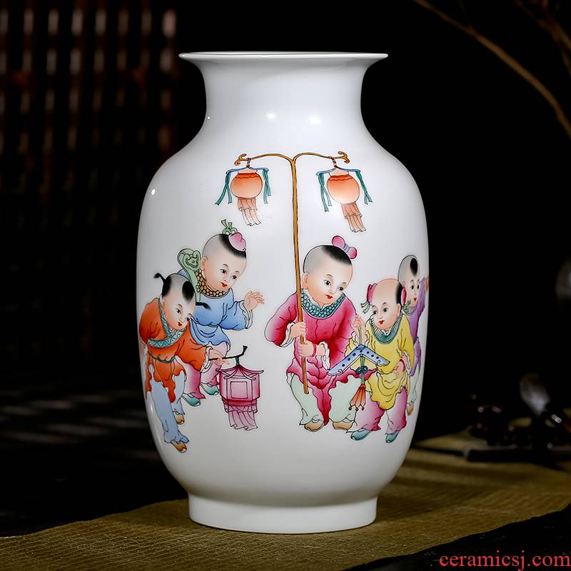 Jingdezhen ceramics celebrity famous master Xia Guoan hand - made five sub - ka vase sitting room adornment is placed