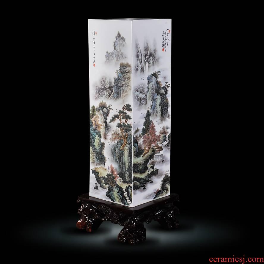 Jingdezhen ceramics hand - made enamel vase mountain people mountain shuimu fashion modern household handicraft furnishing articles