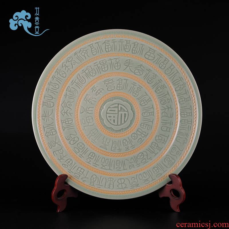 Ore your up high - end porcelain arts and crafts with checking ceramic disc home sitting room adornment sat dish furnishing articles
