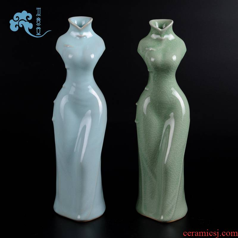 Creative your up crafts porcelain ceramic vase Chinese contracted home sitting room adornment art restoring ancient ways furnishing articles