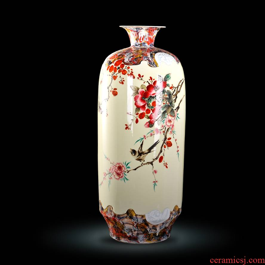 Jingdezhen ceramic Xiong Guiying hand - made pastel up charactizing a vase modern decorative crafts
