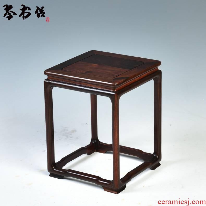 Pianology picking annatto handicraft furnishing articles bright type flower stone bonsai pot vase base shelf real wood