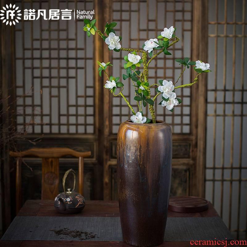 Large vases, ceramic hotel sitting room of Chinese style inserted vase furnishing articles up villa decoration modern simulation landing vase