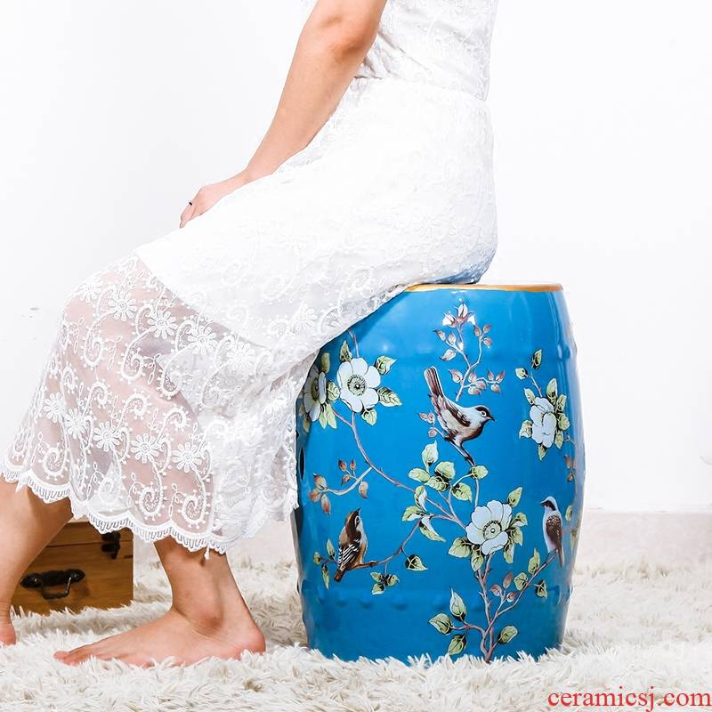 New Chinese style of jingdezhen ceramic drum who home furnishing articles New classic shoes who archaize bench side what decoration