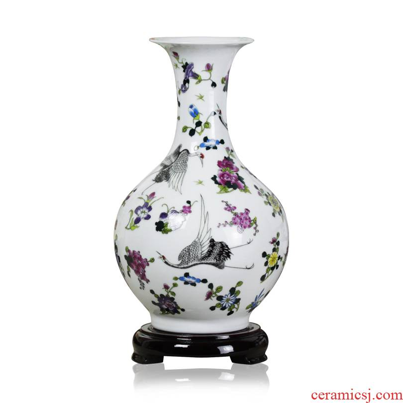 Jingdezhen ceramics vase frosted luminous porcelain bottles of modern home furnishing articles home decoration