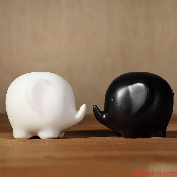 Zakka creative ceramic handicrafts object and white girlfriend I love gift picking furnishing articles