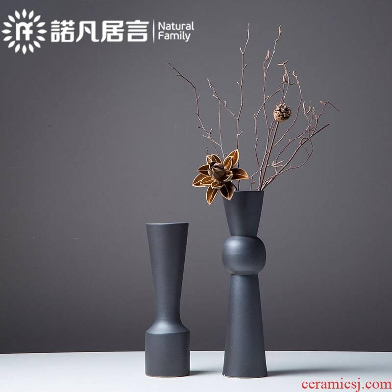 Mesa of jingdezhen ceramic vase creative furnishing articles sitting room hotel dry flower arranging flowers villa decoration fashion wind restoring ancient ways