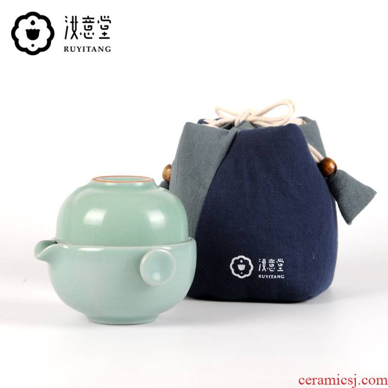 Your up crack 1 cup Your porcelain a pot of a portable kung fu tea set single ceramic is suing travel