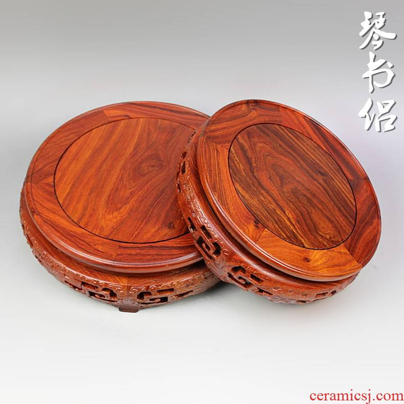 Red wingceltis meander stone Buddha statues carved wooden vase base base base it aquarium flowers miniascape arts and crafts