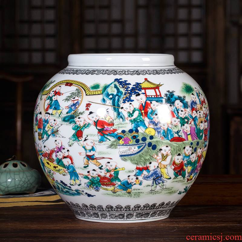 Jingdezhen ceramics, vases, flower arranging furnishing articles figure home sitting room adornment process antique Chinese style is classic the ancient philosophers