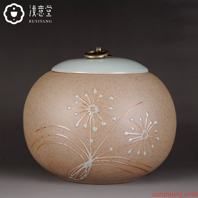 Your up coarse pottery tea pot ceramic seal large storage POTS store receives clay POTS with tea pot