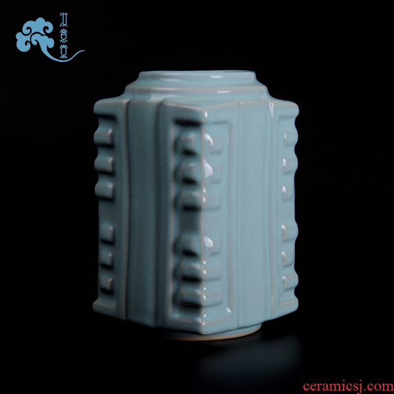 Your up Chinese arts and crafts antique contracted sitting room classical decorative porcelain ceramic vase household furnishing articles cong type bottle