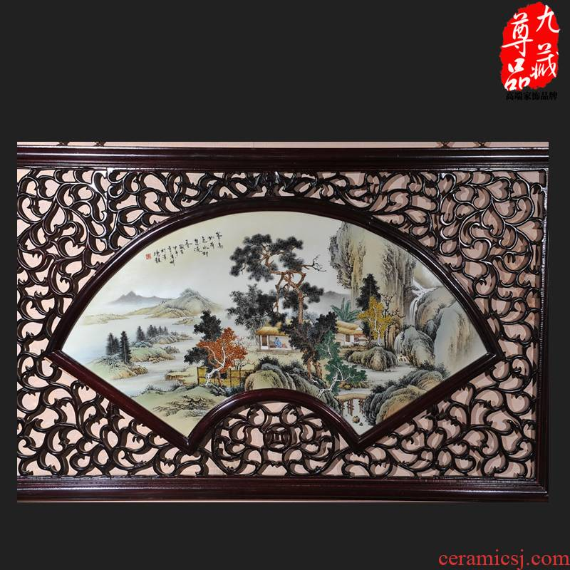 Jingdezhen ceramics bucolic dong - Ming li hand - made porcelain plate painting the sitting room adornment household crafts