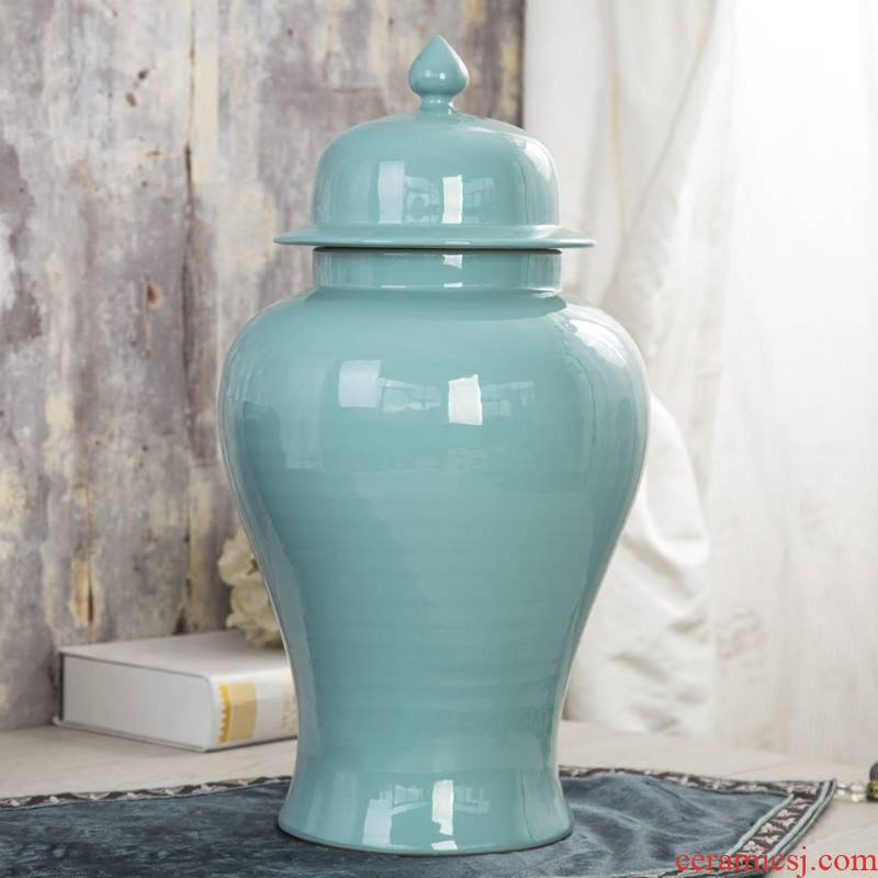 General jingdezhen ceramic pot home decoration model of new Chinese style living room club household soft adornment is placed