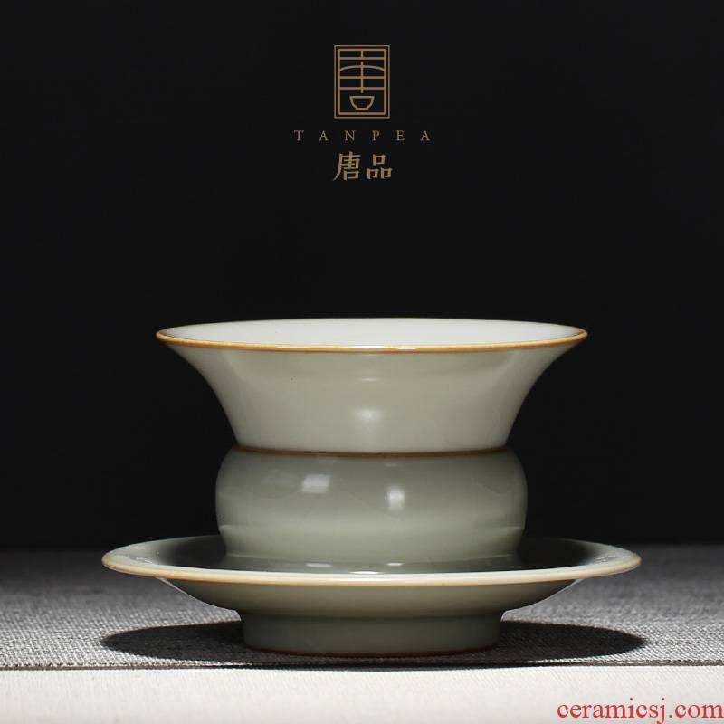 Tang Pin your up tea filter mesh filter jingdezhen ceramic azure between all hand) tea accessories