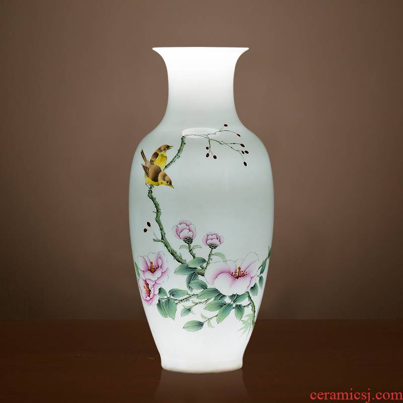 Jingdezhen ceramics vase famous master hand draw the sitting room of Chinese style household wine cabinet office furnishing articles ornament