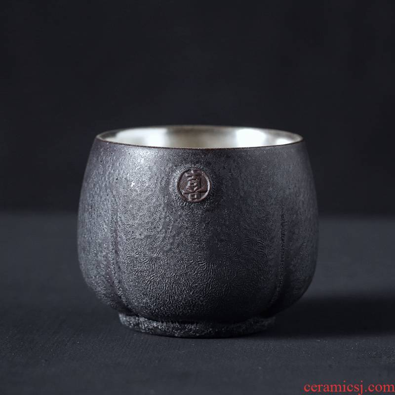 Kay coppering. As 999 silver cup kung fu tea masters cup manual of the single CPU color glaze sample tea cup small cups