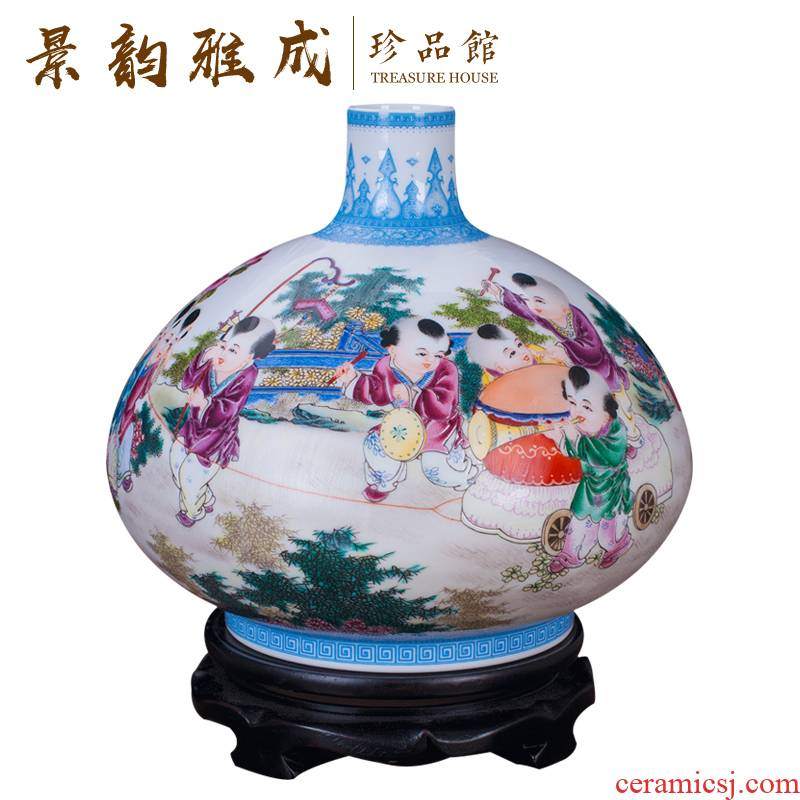 Jingdezhen ceramics hand - made the master of the sitting room porch vase contracted and I and fashionable home furnishing articles ornaments