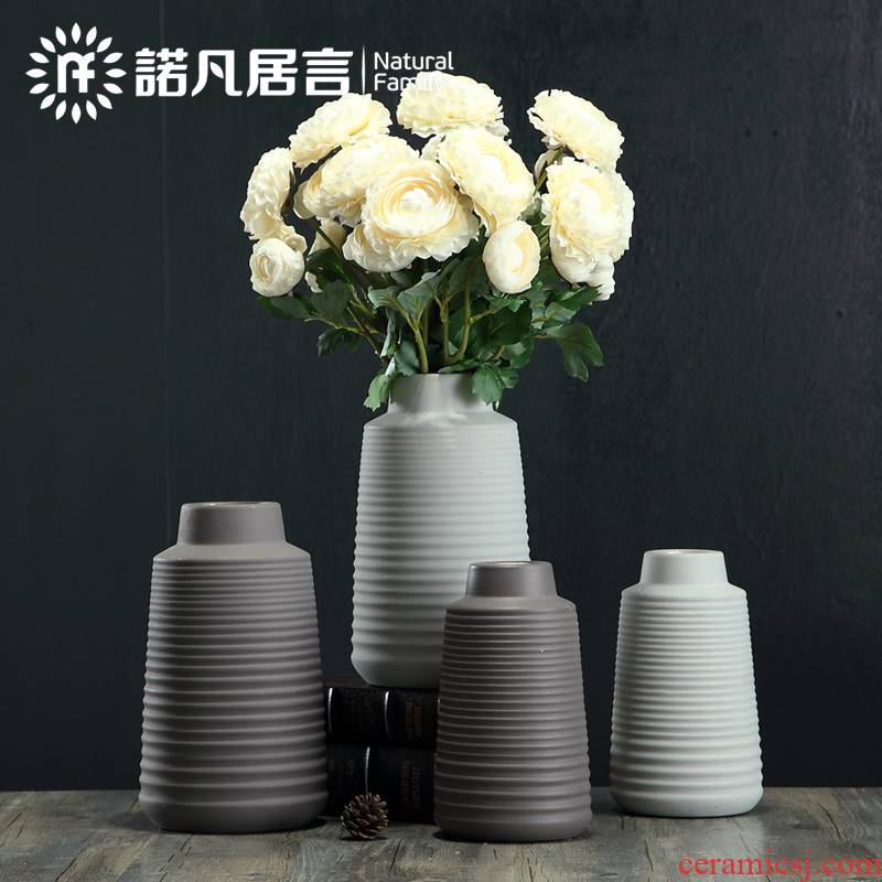 Mesa of jingdezhen ceramic vase sitting room place flower arranging dried flower vase decoration to the hotel villa decoration northern wind