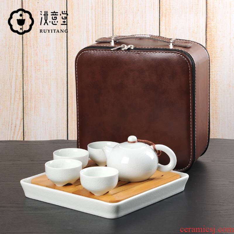 Your up travel tea set suits for Your porcelain ceramic celadon teacup tourism on - board, portable package Chinese style household the teapot