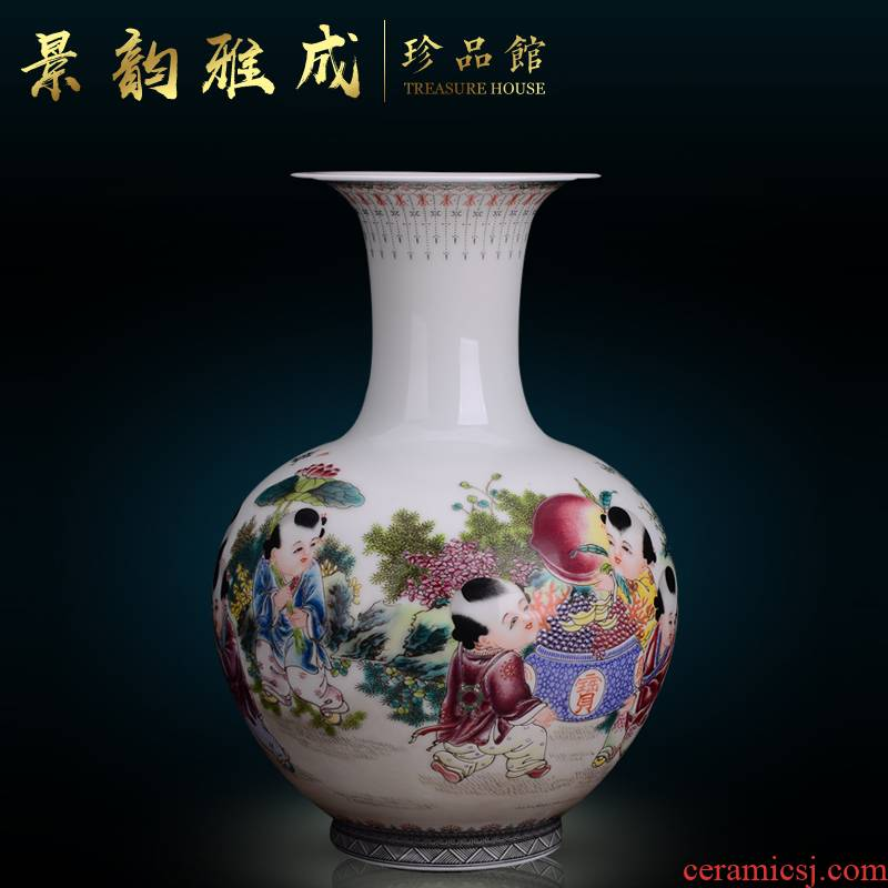 Jingdezhen ceramics fashion vase is I and contracted sitting room of Chinese style household furnishing articles decorative table mesa restoring ancient ways