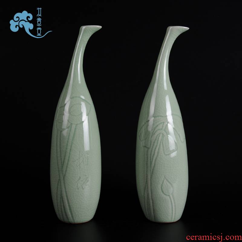 Your up creative arts and crafts ceramics art vase sitting room adornment of Chinese style household contracted TV ark place porcelain