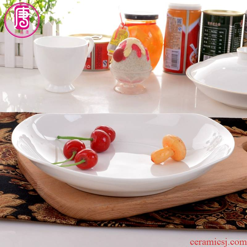 Yipin tang home 0 ipads porcelain ceramic deep dish soup plate move the pure white European dishes cuisine dishes