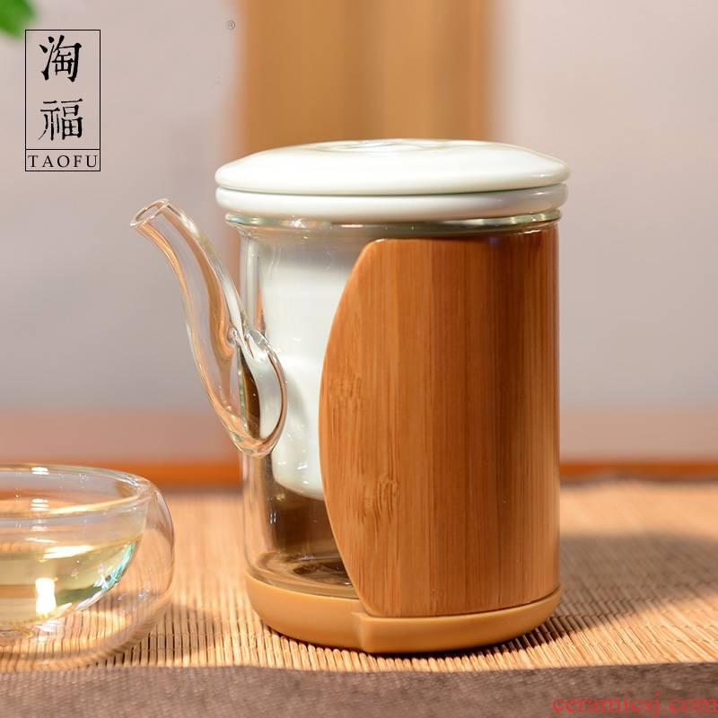 Glass teapot high - temperature ceramic filter tank kung fu tea scented tea teapot tea Glass tea