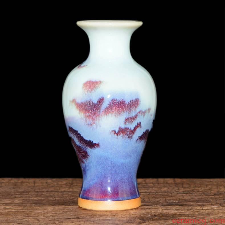 Floret bottle archaize jun porcelain of jingdezhen ceramics furnishing articles creative hand - made flowers flower arrangement, hydroponic home decorations