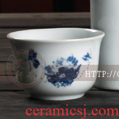 Jingdezhen ceramics ceramic cup warm wine pot cup with half jins temperature wine pot yellow glass in a cup