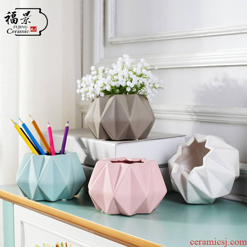I and contracted ceramic vase furnishing articles sitting room ark, Nordic flower vase creative marca dragon small pure and fresh and vase