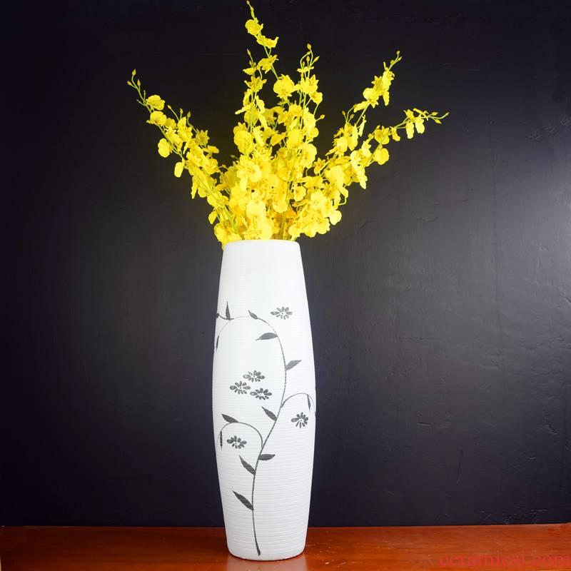 Jingdezhen ceramic big vase furnishing articles sitting room ground dry flower arranging large fake flowers set decoration simulation