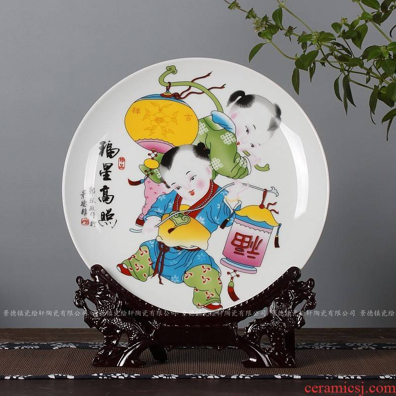The Sat dish Chinese style household adornment porch decorate dish ceramics of TV ark, wine sitting room desktop furnishing articles