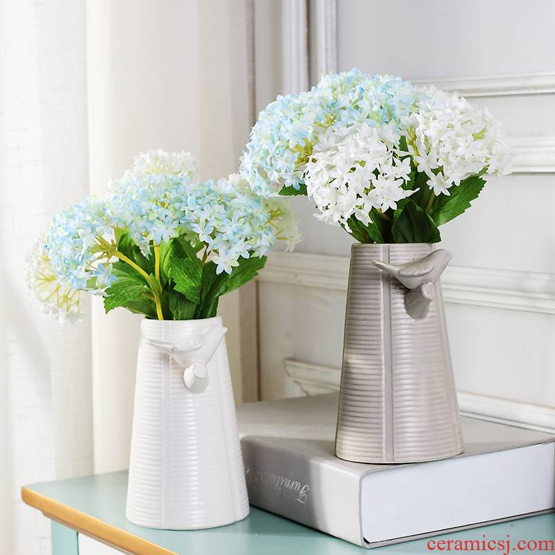 I and contracted ceramic vase furnishing articles sitting room ark, Nordic Nordic vase, flower vase creative arts and crafts