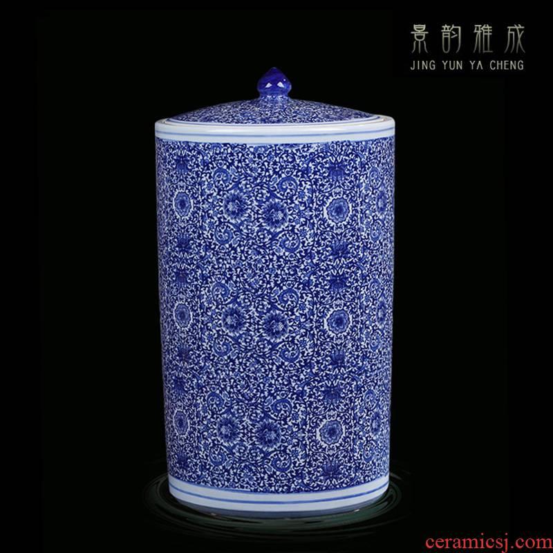 Jingdezhen ceramic POTS sub storage tank large Chinese general moisture caddy fixings meters pot pottery furnishing articles