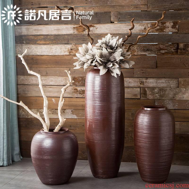Jingdezhen ceramic vase big sitting room hotel villa furnishing articles be born flower POTS of new Chinese style decoration decoration